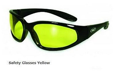 Safety Glasses Yellow Tint